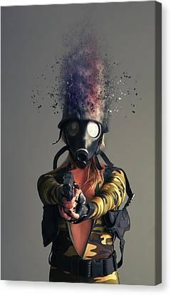 Cyber Attack Canvas Print by Nichola Denny