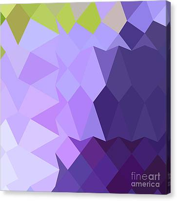 Purple Grapes Canvas Print - Cyber Grape Purple Abstract Low Polygon Background by Aloysius Patrimonio