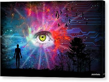 Cyber Sky Canvas Print