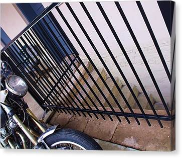 Cycle And Stairs I Canvas Print by Anna Villarreal Garbis