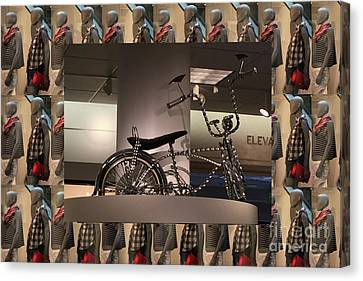 Canvas Print featuring the photograph Cycle Bicycle Race Exercise Posters Pillows Curtains Tote Bags Towels Christmas Holidays Festivals  by Navin Joshi