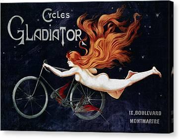 Cycles Gladiator - Paris 1895 Canvas Print by Daniel Hagerman