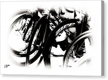 Cycling Art  Canvas Print by Steven Digman