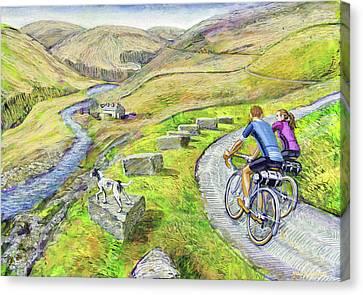 Lancashire Lanes I Canvas Print by Mark Jones