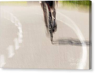 Cycling Canvas Print by Kate Brown