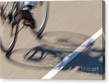 Cycling Two Canvas Print by Kate Brown