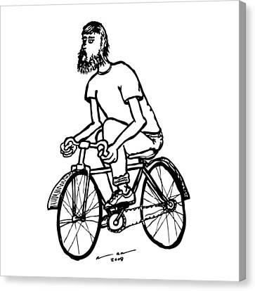 Cyclist - Bike Rider Canvas Print by Karl Addison
