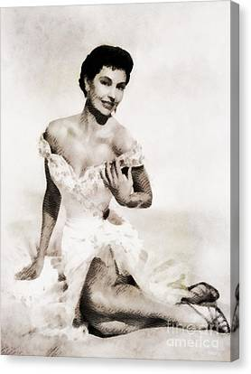 Cyd Canvas Print - Cyd Charisse, Hollywood Legend By John Springfield by John Springfield