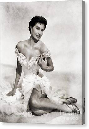 Cyd Canvas Print - Cyd Charisse, Hollywood Legend by Frank Falcon