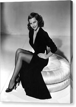 Cyd Canvas Print - Cyd Charisse, Mgm Publicity Shot, 1949 by Everett