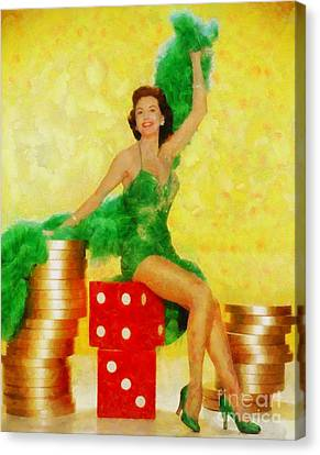 Glamor Canvas Print - Cyd Charisse, Vintage Hollywood Legend by Sarah Kirk