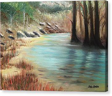 Cypress Bend Canvas Print by Patti Gordon