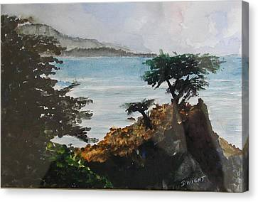 Cypress Canvas Print by Dwight Williams