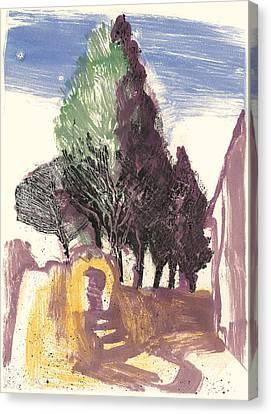 Cypresses Bonnieux Canvas Print