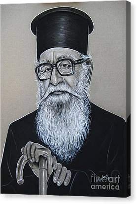 Greek Icon Canvas Print - Cypriot Priest by Anastasis  Anastasi