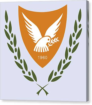 Canvas Print featuring the drawing Cyprus Coat Of Arms by Movie Poster Prints