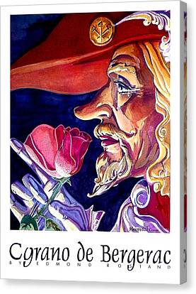 Canvas Print featuring the painting Cyrano by Tim  Heimdal