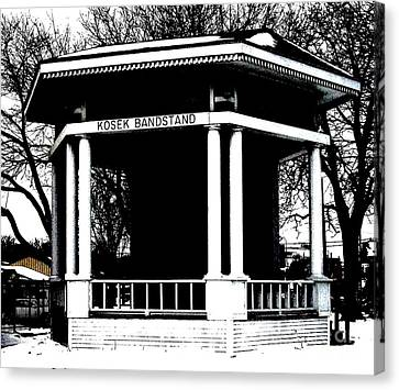 Czech Village Bandstand Canvas Print by Marsha Heiken