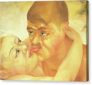 D H Lawrence Close Up Kiss Canvas Print by D H Lawrence