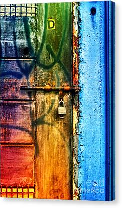 Grate Canvas Print - D Is For Door by Tara Turner