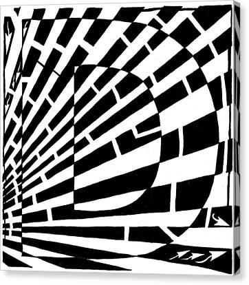 D Maze Canvas Print by Yonatan Frimer Maze Artist