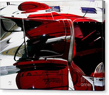 D Type Abstract Canvas Print by Curt Johnson