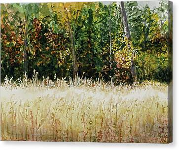 Canvas Print featuring the painting D Vine by Lynn Babineau