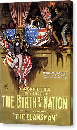 D W Griffith's Birth Of A Nation 1915 Canvas Print