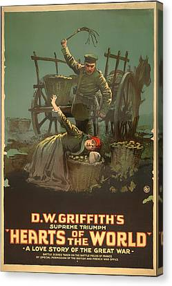 D W Griffith's Hearts Of The World 1918 Canvas Print by Mountain Dreams