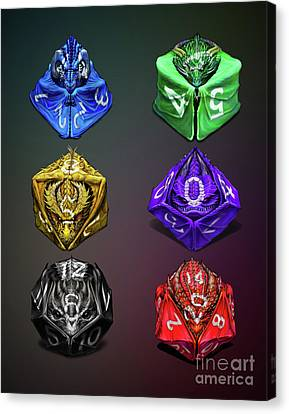 D4-20 Dragon Dice Poster Canvas Print