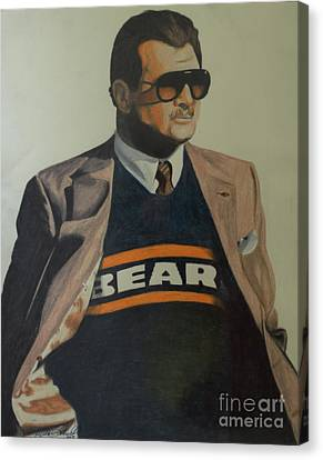 Da Coach Ditka Canvas Print by Melissa Goodrich