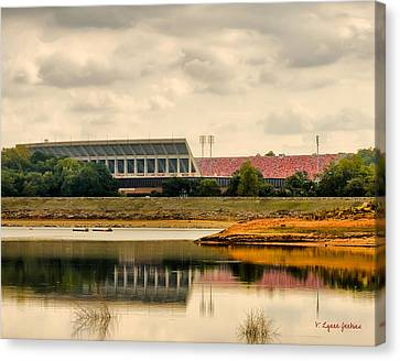 Dabo's First Game Canvas Print by Lynne Jenkins