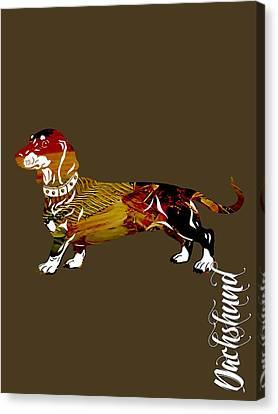 Dachshund Collection Canvas Print