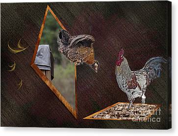 Dad Look I Am Jumping Canvas Print by Donna Brown