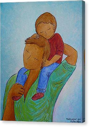 Daddy And Me Canvas Print
