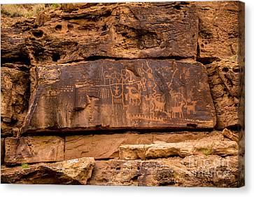 Daddy Canyon Petroglyph - Nine Mile Canyon - Utah Canvas Print by Gary Whitton