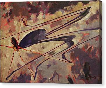 Canvas Print featuring the painting Daddy Long Shadow by Tim  Heimdal