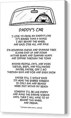 Daddys Car Canvas Print