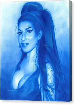 Amy Winehouse - ' Daddy's Girl ' Canvas Print by Christian Chapman Art