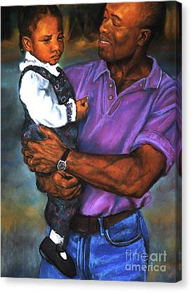 Daddy's Little Girl Canvas Print by Curtis James