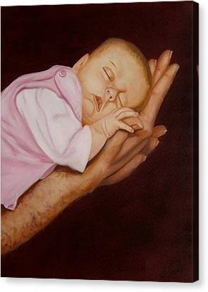 Canvas Print featuring the painting Daddy's Little Girl by Joni McPherson