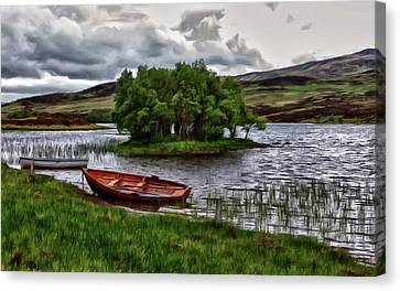 Canvas Print featuring the painting Dads Fishing Spot P D P by David Dehner