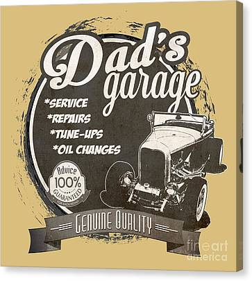 Dad's Garage-1932 Ford Canvas Print by Paul Kuras
