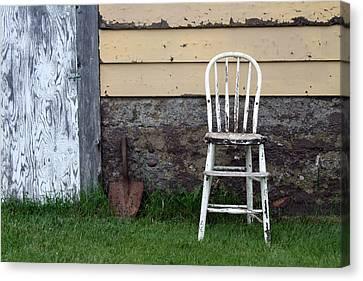 Dads High Chair Canvas Print by Lauri Novak