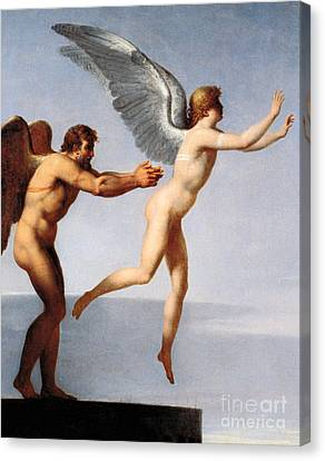 Ancient Greek Canvas Print - Daedalus And Icarus, 1799 by Charles Paul Landon