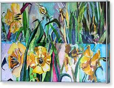 Daffodil Delight Canvas Print by Mindy Newman