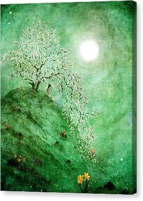 Daffodil Dream Meditation Canvas Print