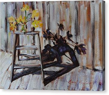 Daffodil Shadows Canvas Print by Carol Berning