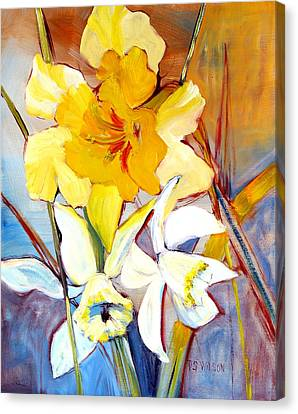 Daffodils Canvas Print by Peggy Wilson