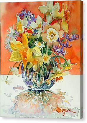 Daffs And Daisies Canvas Print